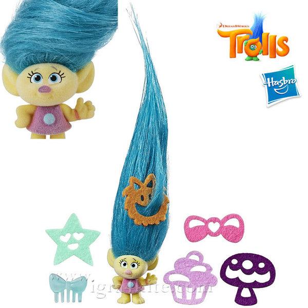 Trolls - Тролче Tiny Smidge с дълга коса и аксесоари c1300