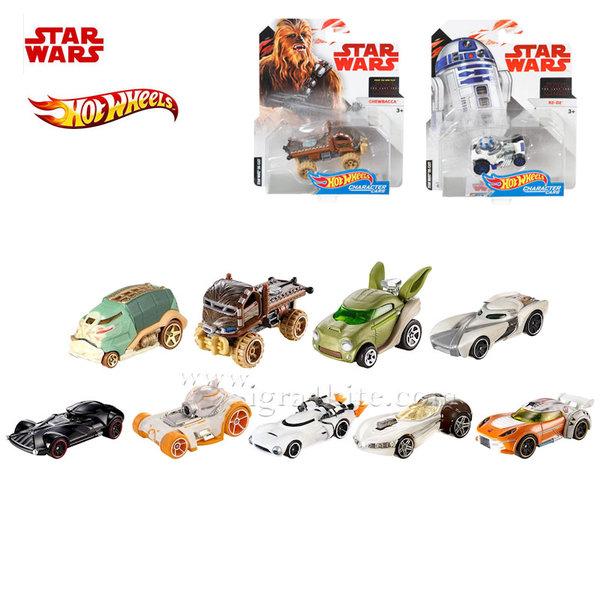 Hot Wheels Star Wars - Междузвездни войни Герои коли 1:64 fdj70
