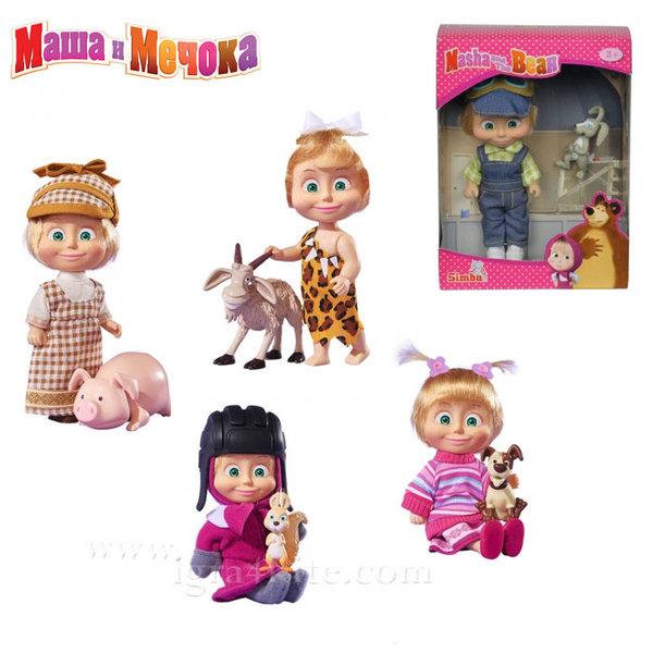 Simba Маша и Мечока - Кукла Маша с животинче 109302117