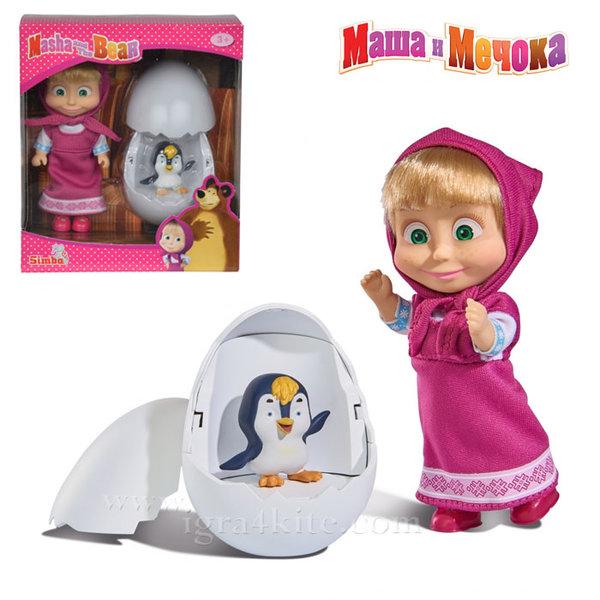Simba Маша и Мечока - Кукла Маша с пингвинче в яйце 109301003