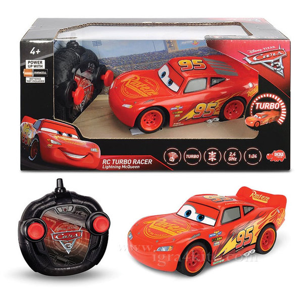 Simba Dickie - Кола с дистанционно управление Disney Cars МакКуийн Светкавицата 84003