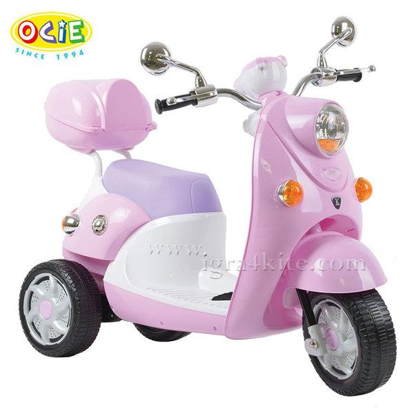 Ocie - Детски скутер с акумулатор QIKE розов 3220020
