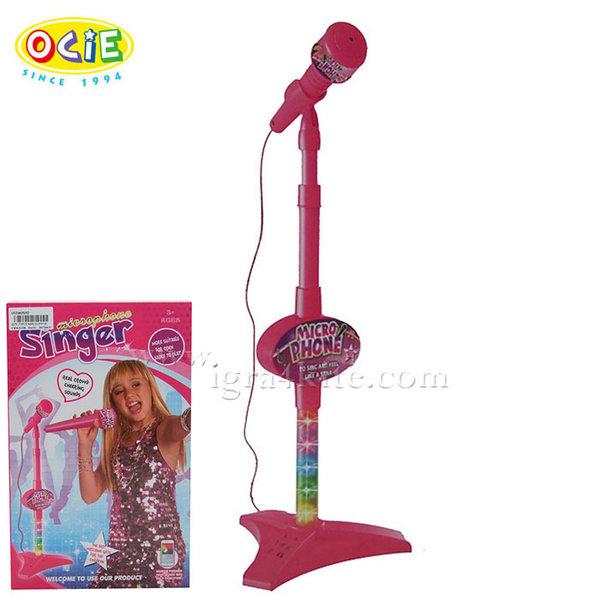 Ocie - Детски микрофон на стойка със светлини 635352