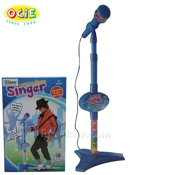 Ocie - Детски микрофон на стойка със светлини 635354