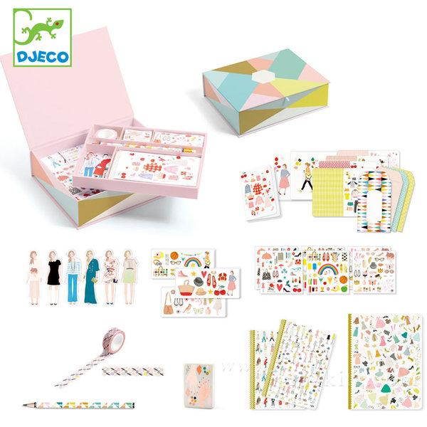 Djeco - Комплект хартиени кукли и стикери в кутия 03501
