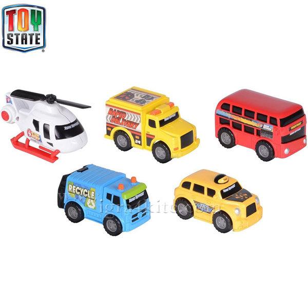 Toy State - Комплект градски коли мини 41402