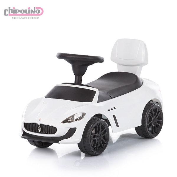 Chipolino - Кола за яздене Maserati Gran Cabrio MC бяла