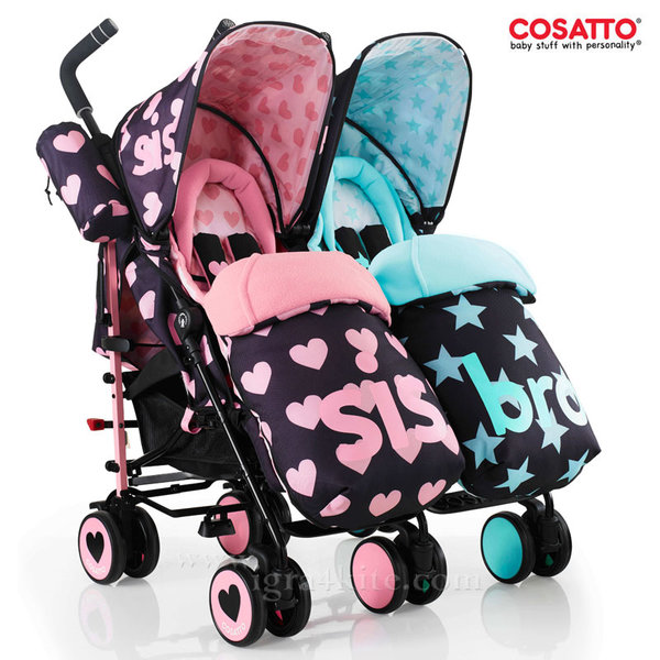 Cosatto - Количка за близнаци Supa Dupa Sis and Bro 5 CT3534