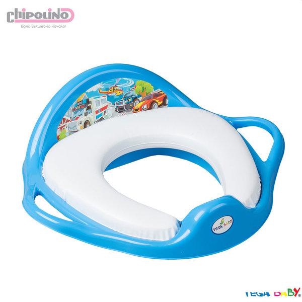 Chipolino - Бебешка мека седалка за тоалетна Коли синя