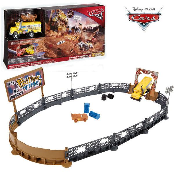 Disney Cars - Писта Колите Smash and Crash Derby dxy95