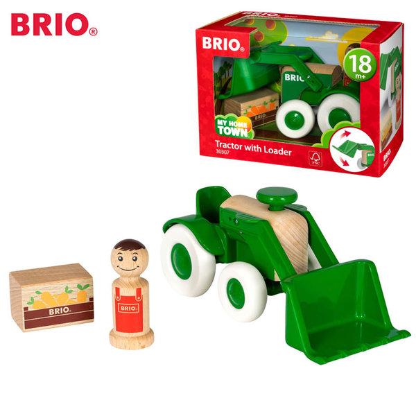 Brio - Дървен трактор 30307