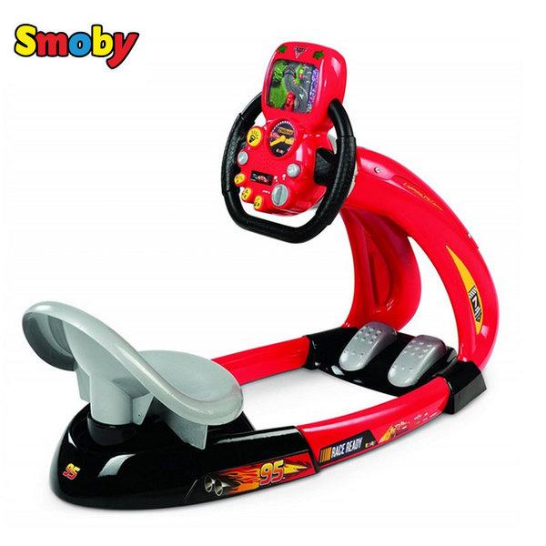 Smoby - Автосимулатор със звукови ефекти V8 Driver Disney Cars 370211