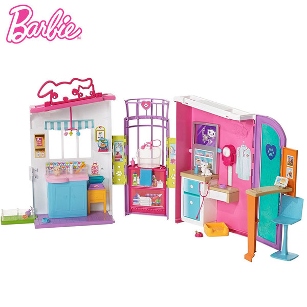 Barbie - Ветеринарна клиника в куфарче fbr36