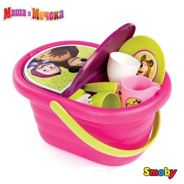 Smoby - Маша и мечока Кошница за пикник 310564