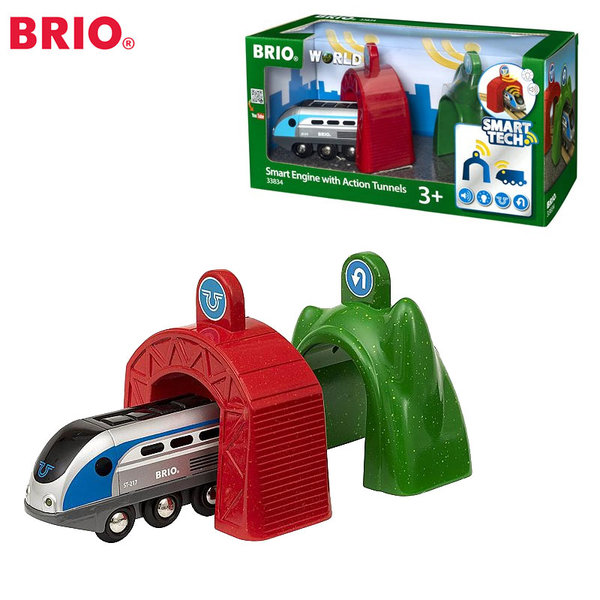 Brio - Влакче с два тунела Smart Tech 33834