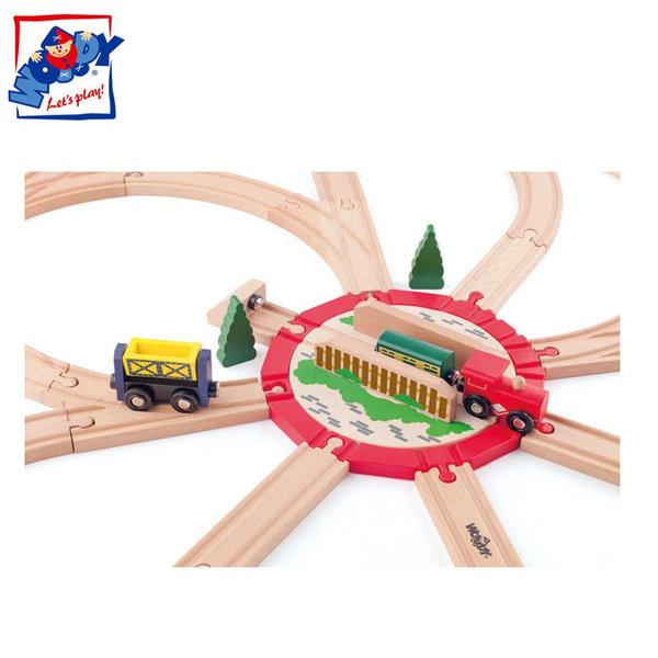 Woody - Дървено влакче Голямо разклонение с мост 91812