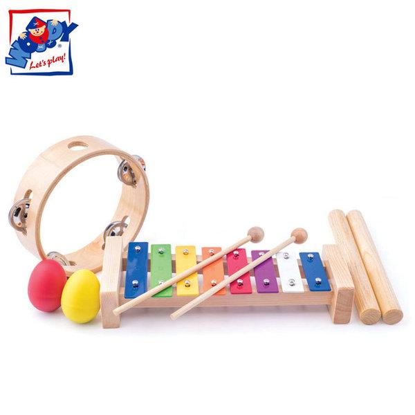 Woody - Комплект дървени музикални инструменти 91894