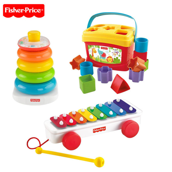 Fisher Price - Комплект пирамида, сортер и ксилофон blt46