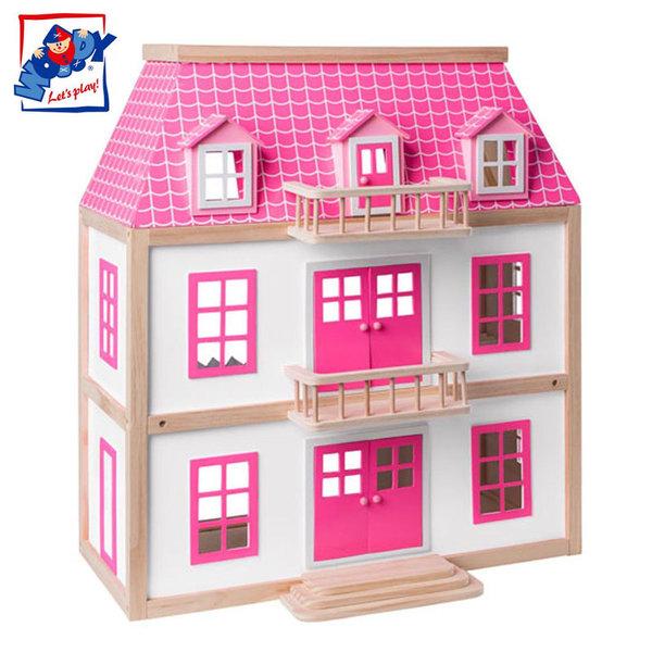 Woody - Дървена куклена къща с обзавеждане Вила Вистерия 91873
