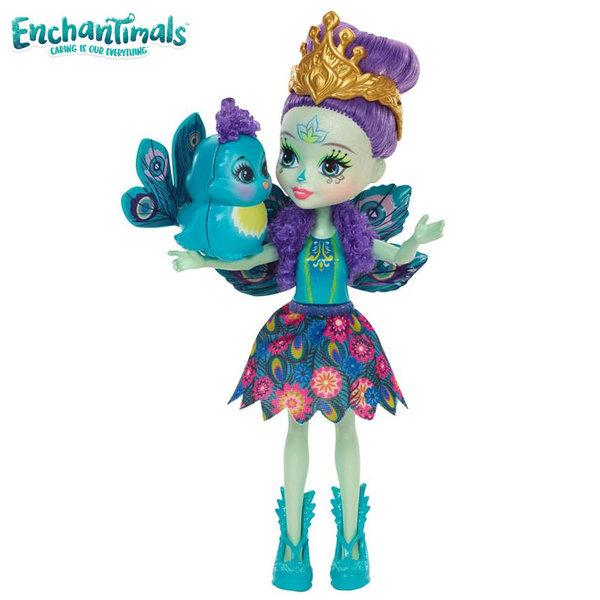 Enchantimals - Пазители на гората Кукла Кукла Патър Пийкок и паунчето Флап dyc76