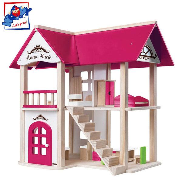 Woody - Дървена къща за кукли Анна Мария 91874