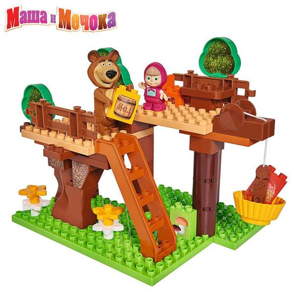 1BIG Маша и Мечока - Конструктор Къща на дърво, 60 части 57106