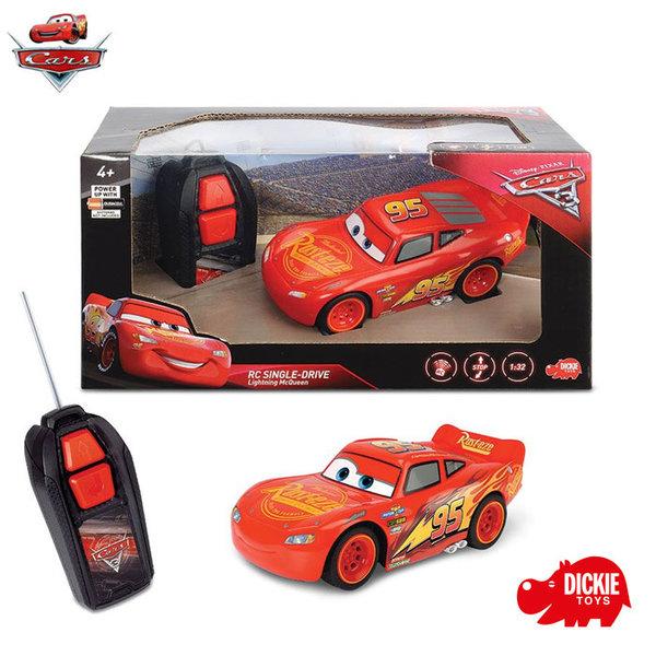 Simba Dickie - Кола с дистанционно управление Disney Cars МакКуийн Светкавицата 81000