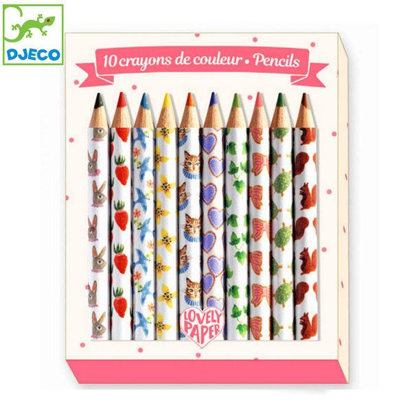 Djeco - Lovely paper Мини цветни моливи Айко 03725
