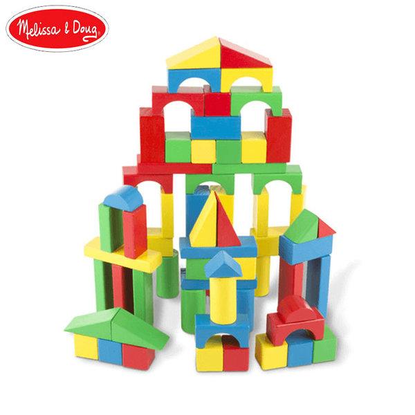 Melissa&Doug - Дървени кубчета 100 части 10481