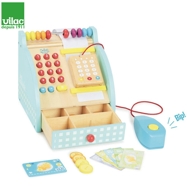 Vilac - Детски дървен касов апарат 8102