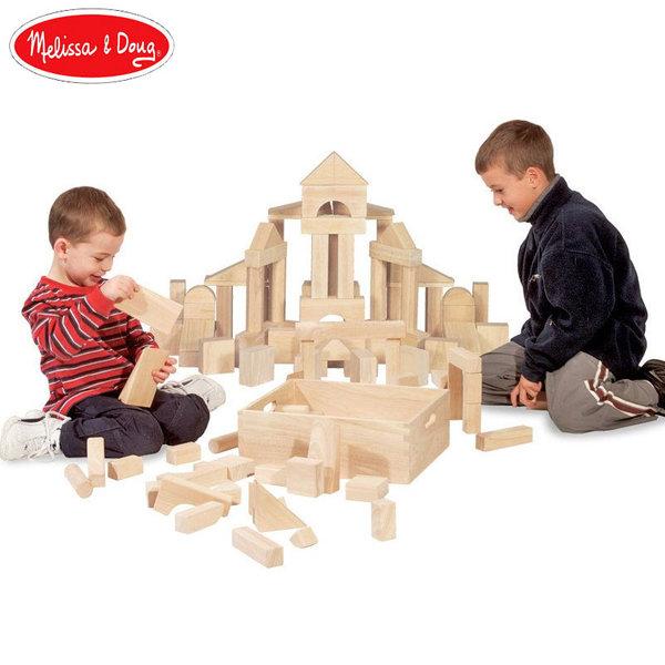 Melissa&Doug - Дървени кубчета 60 части 10503