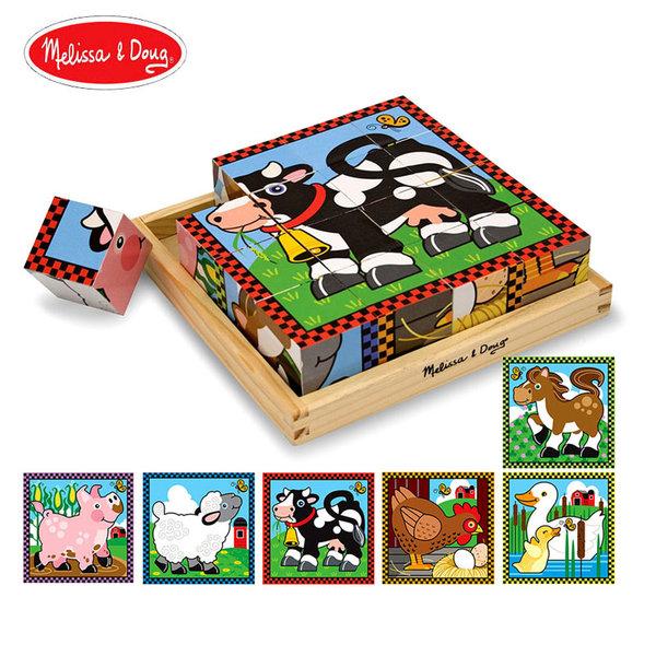 Melissa&Doug - Дървени кубчета Ферма 10775