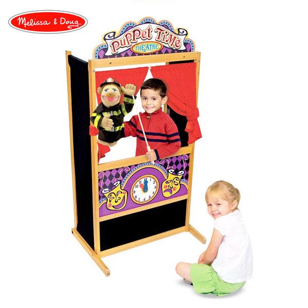 Melissa&Doug - Дървен куклен театър 12530