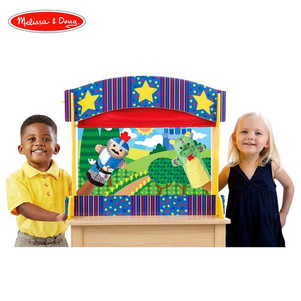 Melissa&Doug - Дървен куклен театър настолен 12536