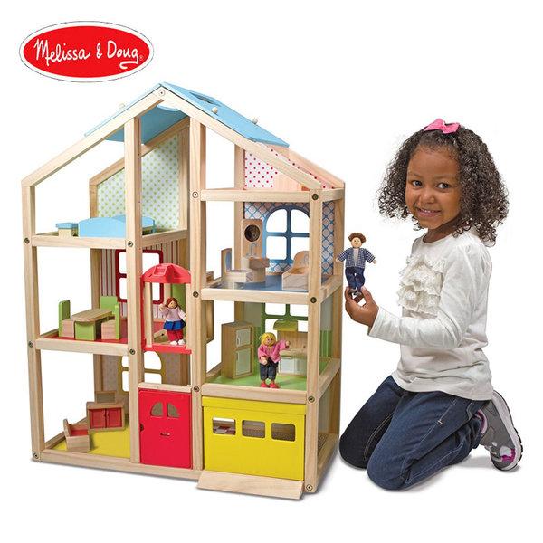 Melissa&Doug - Дървена къща за кукли с обзавеждане 12462