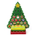 Melissa&Doug - Дървена коледна елха календар с магнити 13571