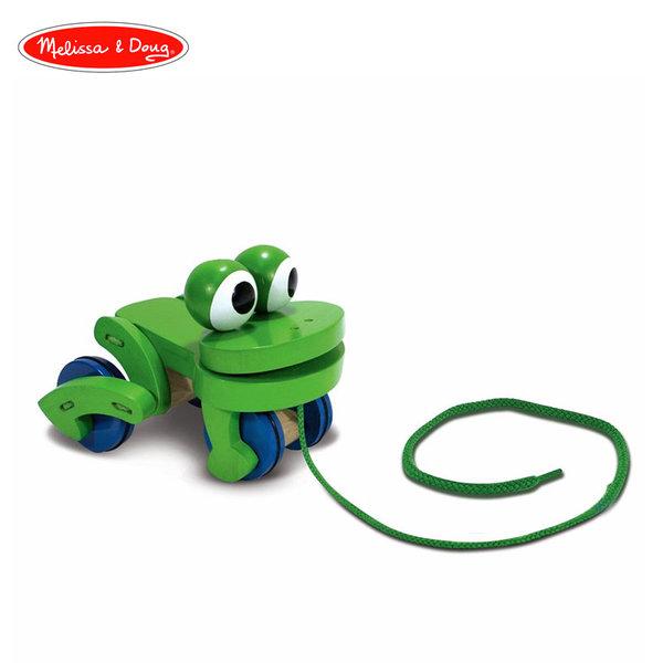 Melissa&Doug - Дървена играчка за дърпане Жаба 13021