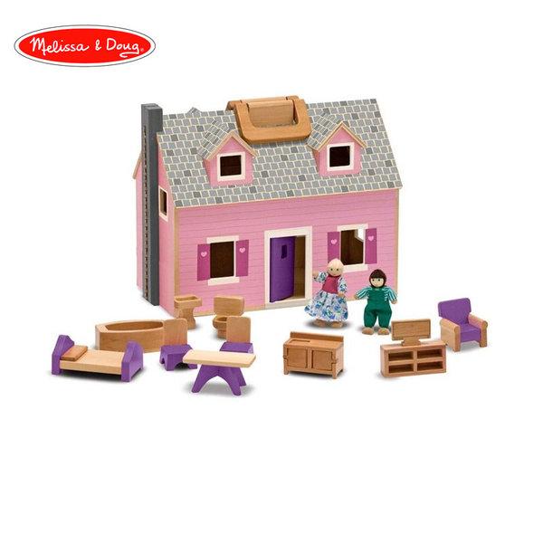 Melissa&Doug - Дървена къща с обзавеждане 13701