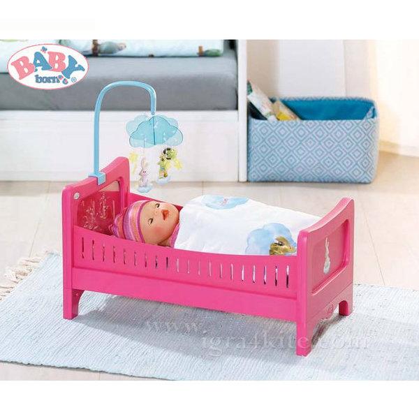 Zapf Creation - Baby Born Легло за кукла с музикална въртележка 822289