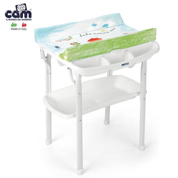 Cam - Анатомична вана с шкаф и подложка за повиване Aqua аморе мио C612/222