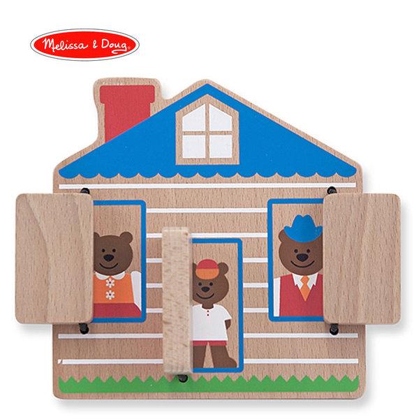 Melissa&Doug - Дървена къща Къде е Мечето? 14034