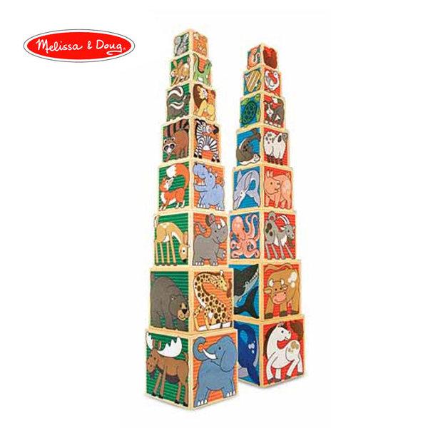 Melissa&Doug - Дървени кубчета за нареждане 14207