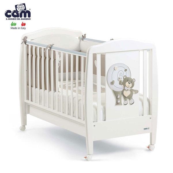 Cam - Бебешко легло Мече бяло 219/g102