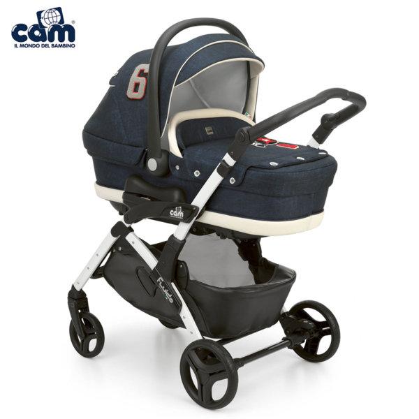 Cam - Модулна бебешка количка 3в1 Fluido City Top 877Т/709