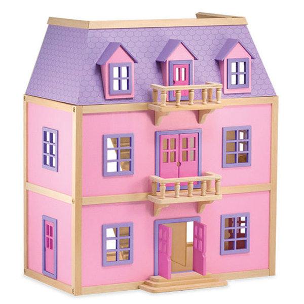 Melissa&Doug - Дървена къща за кукли на 3 етажа  14570