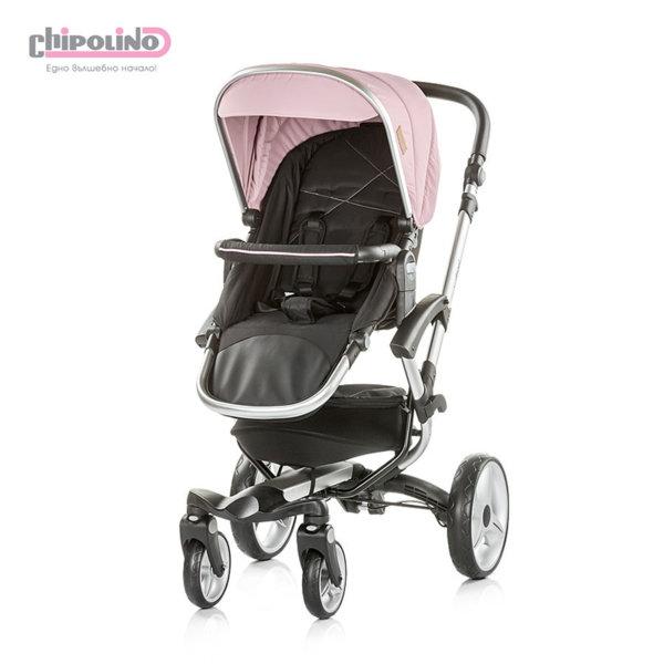 Chipolino - Бебешка количка с твърд кош Ейнджъл 2в1 розова