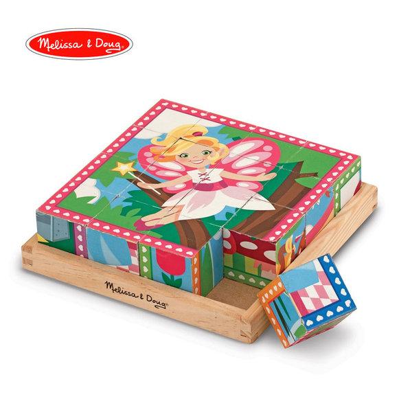 Melissa&Doug - Дървени кубчета Принцеси 19040