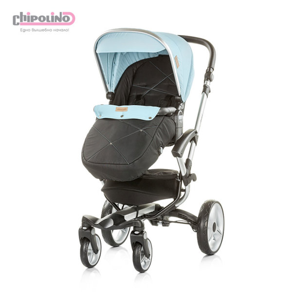 Chipolino - Бебешка количка с твърд кош Ейнджъл 2в1 синя
