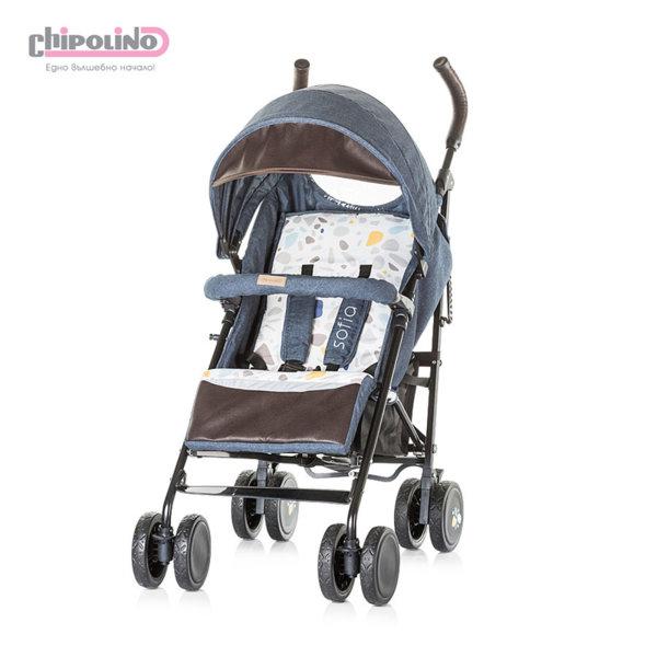 Chipolino - Лятна бебешка количка София индиго памучни дънки