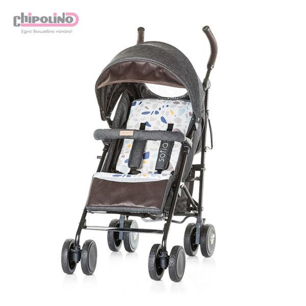 Chipolino - Лятна бебешка количка София черни памучни дънки